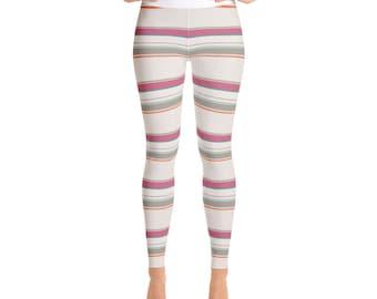 Yoga Leggings in striped motif ICE CREAM