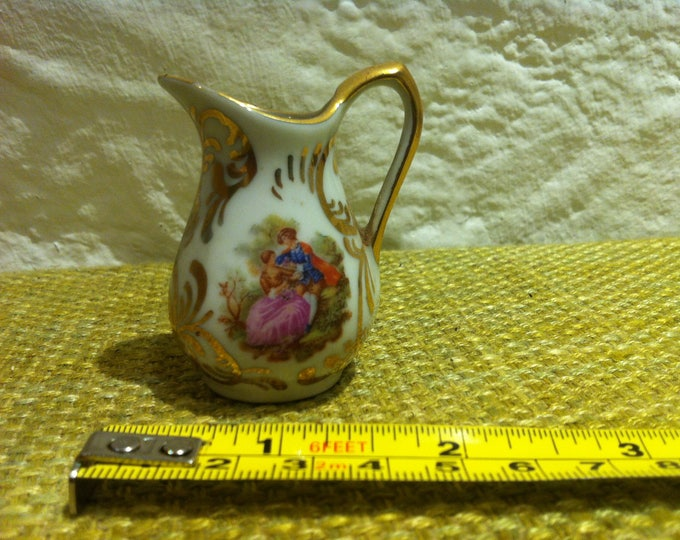 Vintage Can vase dollhouse accessoires decoration flower decor, miniature