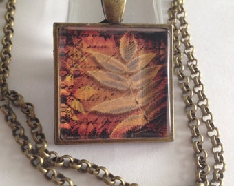 Fall jewelry, Fall leaves, Fall necklace, Autumn necklace, Autumn jewelry, Gifts for girls, Seasonal jewelry, Autumn,  Stocking stuffer