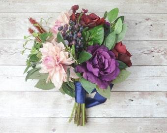 Wedding Bouquet, Artificial Bouquet, Silk Flower Bouquet, Wedding Flowers, Bridal Bouquet, Boho Bouquet, Silk Flowers, Wedding Flower Set