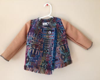 Vintage Woven Baby Coat 3-6 months