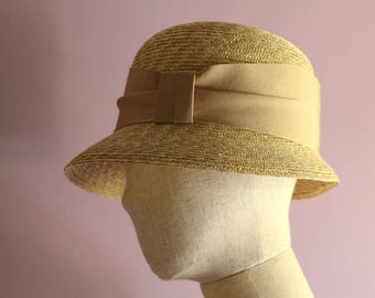 "A Cloche Straw Hat ""Marie"""