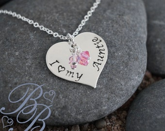 Personalized Jewelry - Aunt's Necklace - Mother's Necklace - Hand Stamped Jewelry