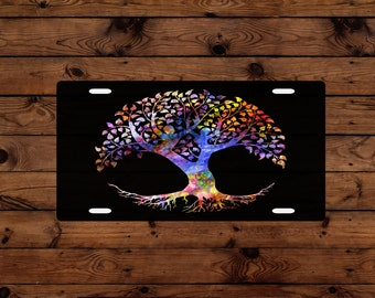 Abstract Tree of Life Custom License Plate Sublimation Printed