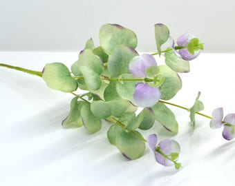 Mint green plants Faux leaves Wedding greenery Home decor Artificial eucalyptus DIY Bouquets wedding Greenery wreath Flower comb making