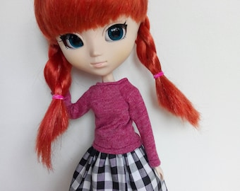 Eyecatching skirt! Must have!  for pullip blythe azone momoko obitsu and similar dolls