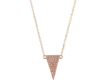 Triangle Diamond Pave Necklace