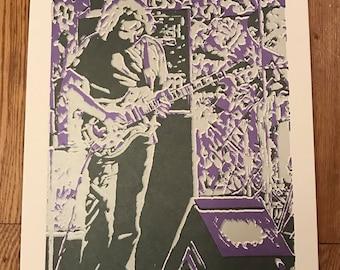 Jerry Garcia Screen print poster Grateful Dead