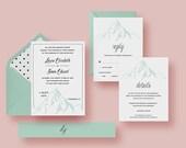 Mountain Wedding Invitati...