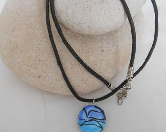 C 28 - Blue Bead and peace necklace