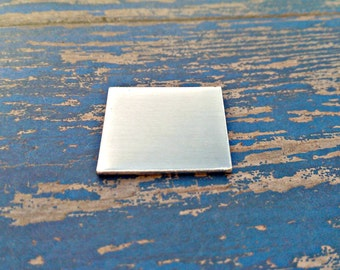 Aluminum Square 1 inch Stamping Blanks - Qty 5