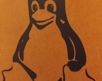 Linux Mascot Tux Vinyl Decal/Sticker