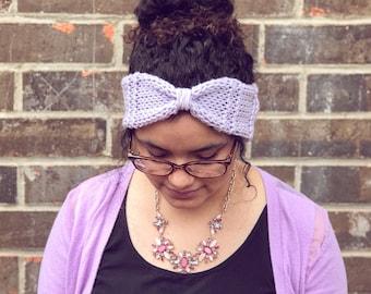 Knit headband, knit earwarmer, hippy headband, hippy earwarmer, boho headband, custom headband, knotted headband, custom knot earwarmer