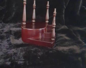Wooden Staircase ~ Mahogany Dollhouse Miniature