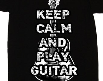 Keep Calm and Play Guitar T Shirt - American Apparel Tshirt