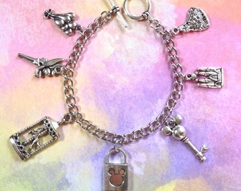 Disneyland Magic Kingdom Charm Bracelet