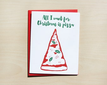 All I want for Christmas is pizza, Single card