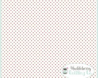 Red Swiss Dot, Le Creme, Polka Dot Fabric, Riley Blake Fabrics, Christmas Fabric, Fabric Yardage 100% cotton fabric
