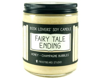 Fairy Tale Ending - 8 oz Book Lovers' Soy Candle - Book Candle -  Book Lover Gift - Scented Soy Candle - Frostbeard Studio
