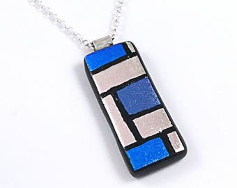 Dichroic Glass Necklace - Funky Jewellery
