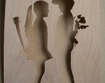 Banksy Boy Meets Girl Stencil