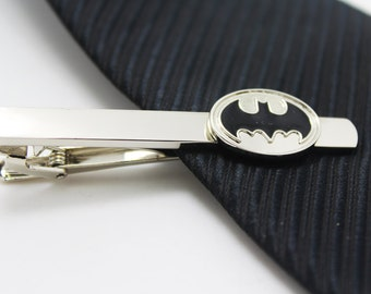 Bat Tie Clip, Hero Accessories, Silver Accessories, Novelty Accessories, Gift For Man