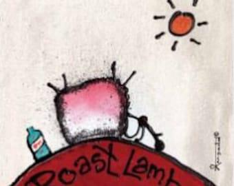 ROAST LAMB - Ewe/Sheep Block Prints