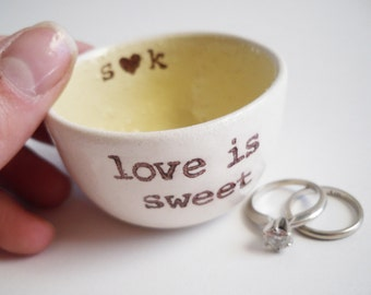handmade PERSONALIZE ENGAGEMENT GIFT wedding ring pillow personalized ring dish wedding ring holder custom wedding date personalized names