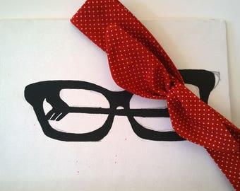 Red Polka Dot Wire Headband