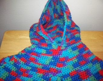 Child's crocheted poncho