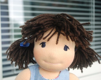 Monia- waldorf doll, rag doll, hand made doll, fabric doll, natural fiber, OOAK, cloth doll, steiner doll