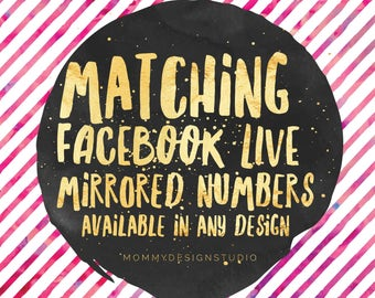 Match Your Business Cards - Reversed Live Sale Mirrored Numbers - Leggings Business - VIP Shop Group - BUNDLE add on - Leggings Shop the Box