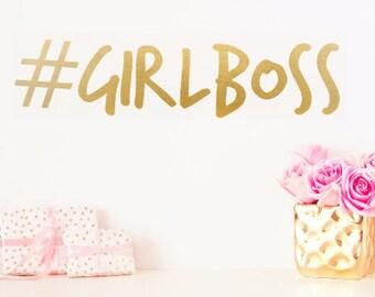 Hashtag Girl Boss #GirlBoss Vinyl Wall Decal Wall Sticker Accessory