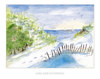 Jones Beach Water Color from Adelaide O'Connell