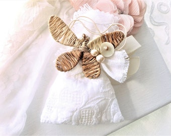 lace, romantic pouch bag, lavender bag, vintage fabric pouch, pouch fabric jewelry.