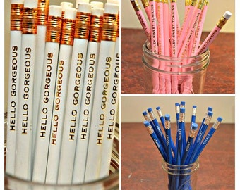 Pencils, Custom Name Pencils, Wedding Favor, Teacher Gift, Personalized Pencils, Engraved Pencils, School Pencil, Gift Under Twenty, Set 15