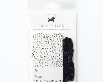 Music Notes Gift Tags