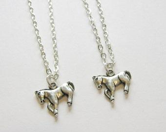 2 Best Friends Necklaces, Horse Best Friends, Sisters Necklaces, Horse Necklaces, Best Friends Jewelry, Bff Horse Necklaces