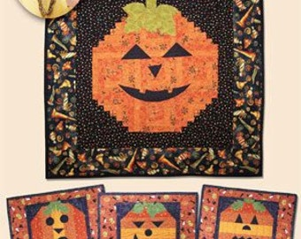 Halloween pattern, Pumpkin Wallhanging, Pumpkin Quilt Pattern, Halloween quilt pattern, Eleanor Burns Quilt in a Day
