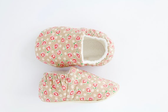 Ditsy Floral Baby Girl Shoes Hand Made In England