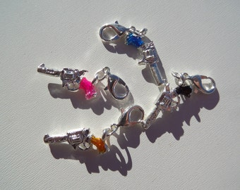 33mm Colored Gun Charms, 5CT. (Y31)