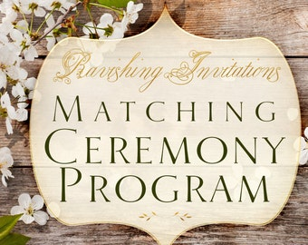 Matching Ceremony Program printable