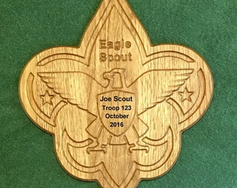 Eagle Scout Plaque Custom engraved with Scouts info