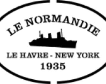 Stencil, boat Normandy way label