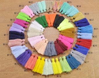 40 Color Mini Tassels,Wholesale 100pcs 30mm Cotton Tassels/Tiny Short Tassel/ Handmade Cotton Thread Tassel/Craft Tassel/Tassel Pendant