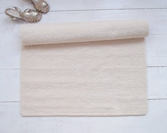 Ivory Rug, Cream Rug, Off White Rug, Soft Cotton Boucle Rug, Nursery Rug, Washable, Woven on the Loom, Made to Order
