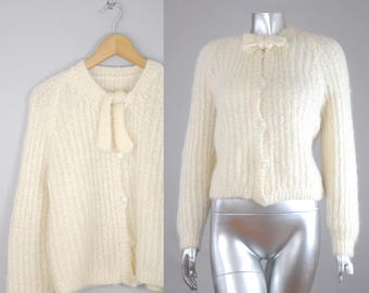 Maryanne mohair cream sweater | 1970s wool sweater | vintage 70s sweater