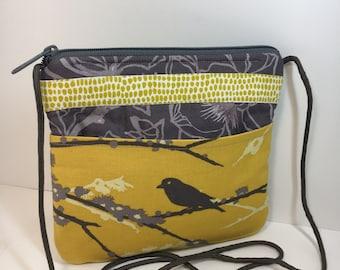 Put a Bird on it~Petite~Crossbody~Midsize Crossbody~Bags and Purses~Travel Bag~Shoulder Bag~HANDMADE~Fabric Bag~
