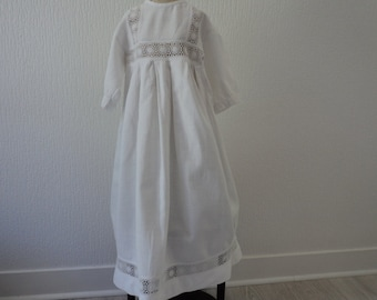 Stunning French vintage hand made heirloom christening gown  (02846)