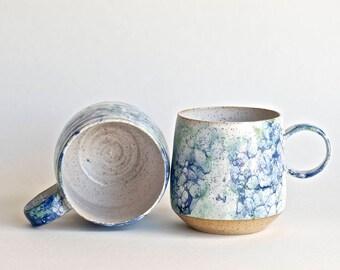Coffee Mugs - MADE TO ORDER -Ceramic Cups - Ceramic Mugs - Long Island Waters Collection - Coffee Mugs - Latte Mugs - Bubble Glaze